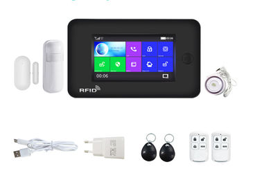 Full Touch Screen Wireless Security Alarm System WIFI GSM 8 Languages Supported